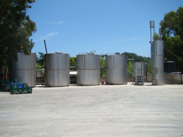 Plants for industrial waste water from the beverage industry